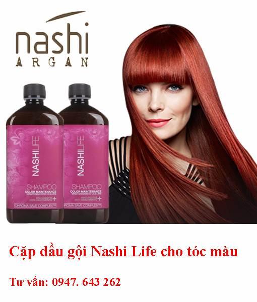 Dầu gội Nashi life cho tóc màu