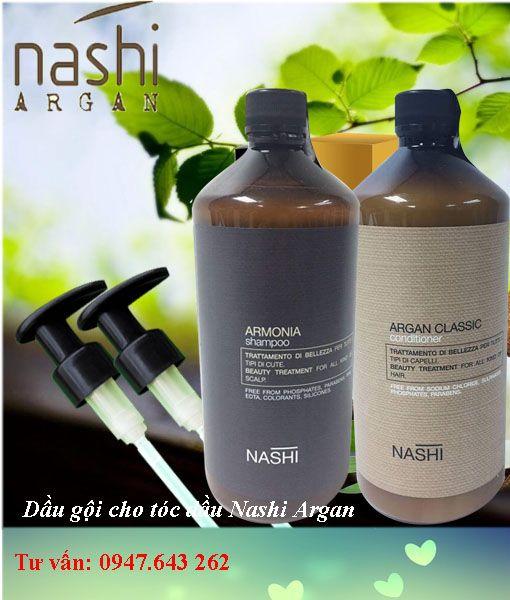 Dầu gội xả Nashi trị gàu và cho tóc dầu