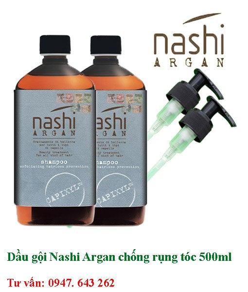 Dầu gội xả nashi argan chống rụng tóc 500ml